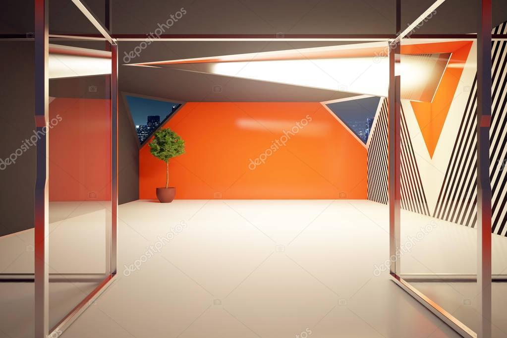 Moderne oranje interieur — Stockfoto © peshkova #129724114