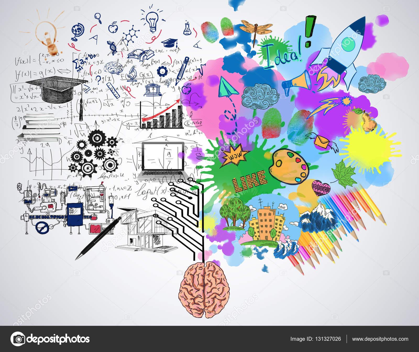 30 Creative Open Concept: Creatieve En Analytisch Denken Concept