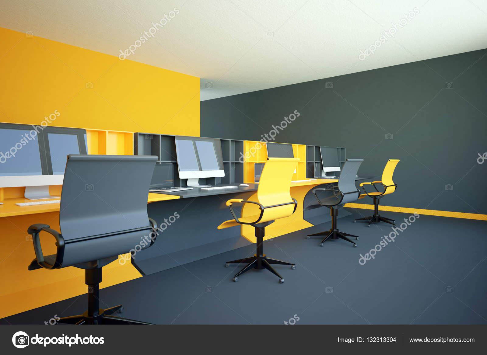 Bureau de coworking jaune u2014 photographie peshkova © #132313304