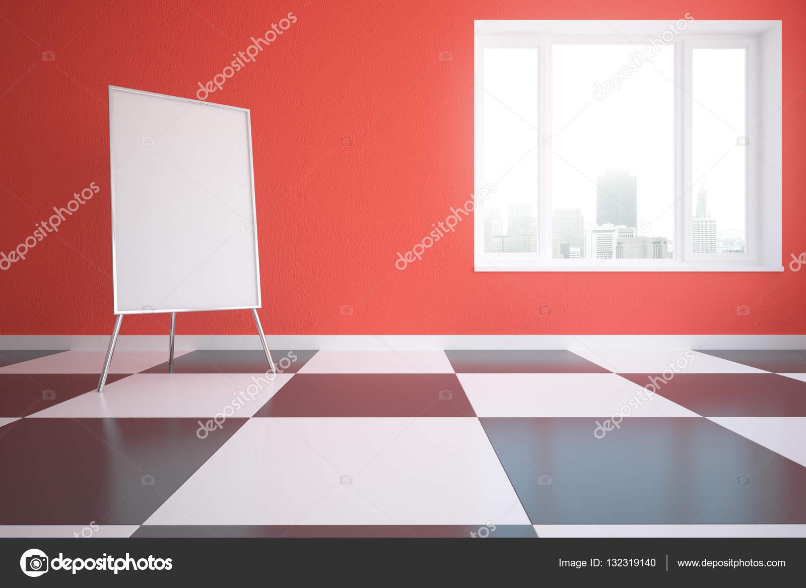 Rood interieur met whiteboard — Stockfoto © peshkova #132319140