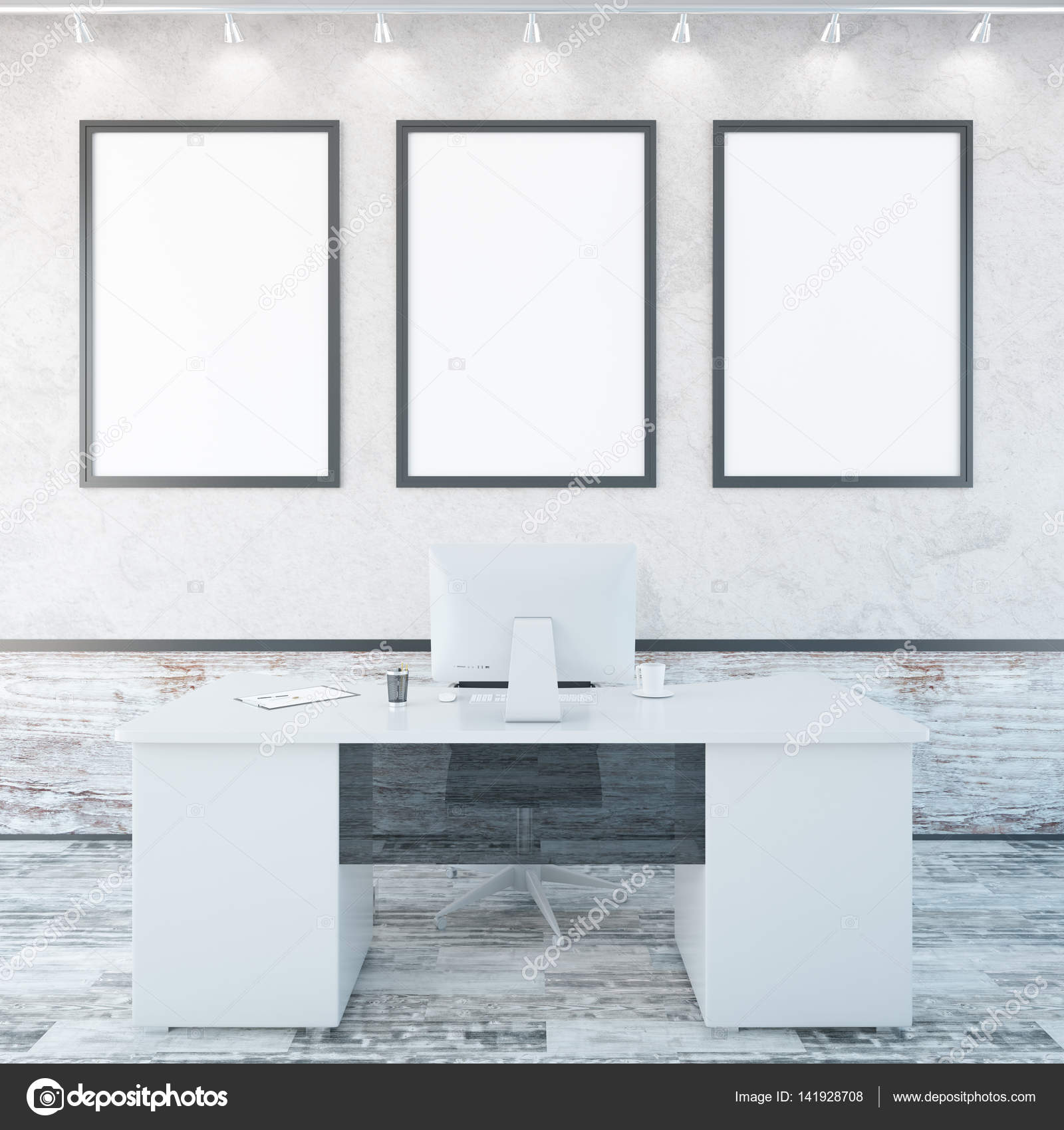 Interior de oficina con marcos vacíos — Foto de stock © peshkova ...