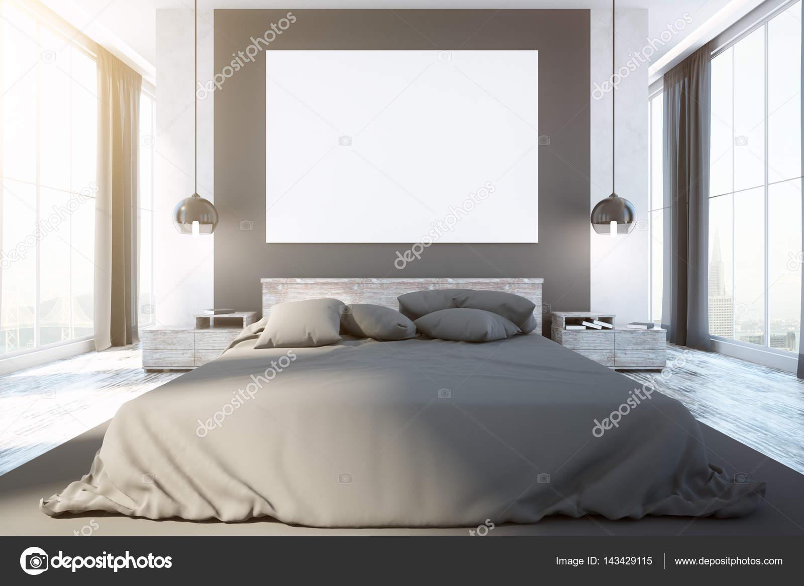 intérieur de la chambre à coucher contemporaine — Photographie ...