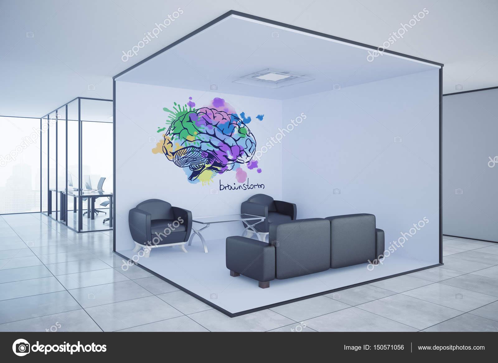 Intérieur de bureau moderne avec salon salon lieux de travail et