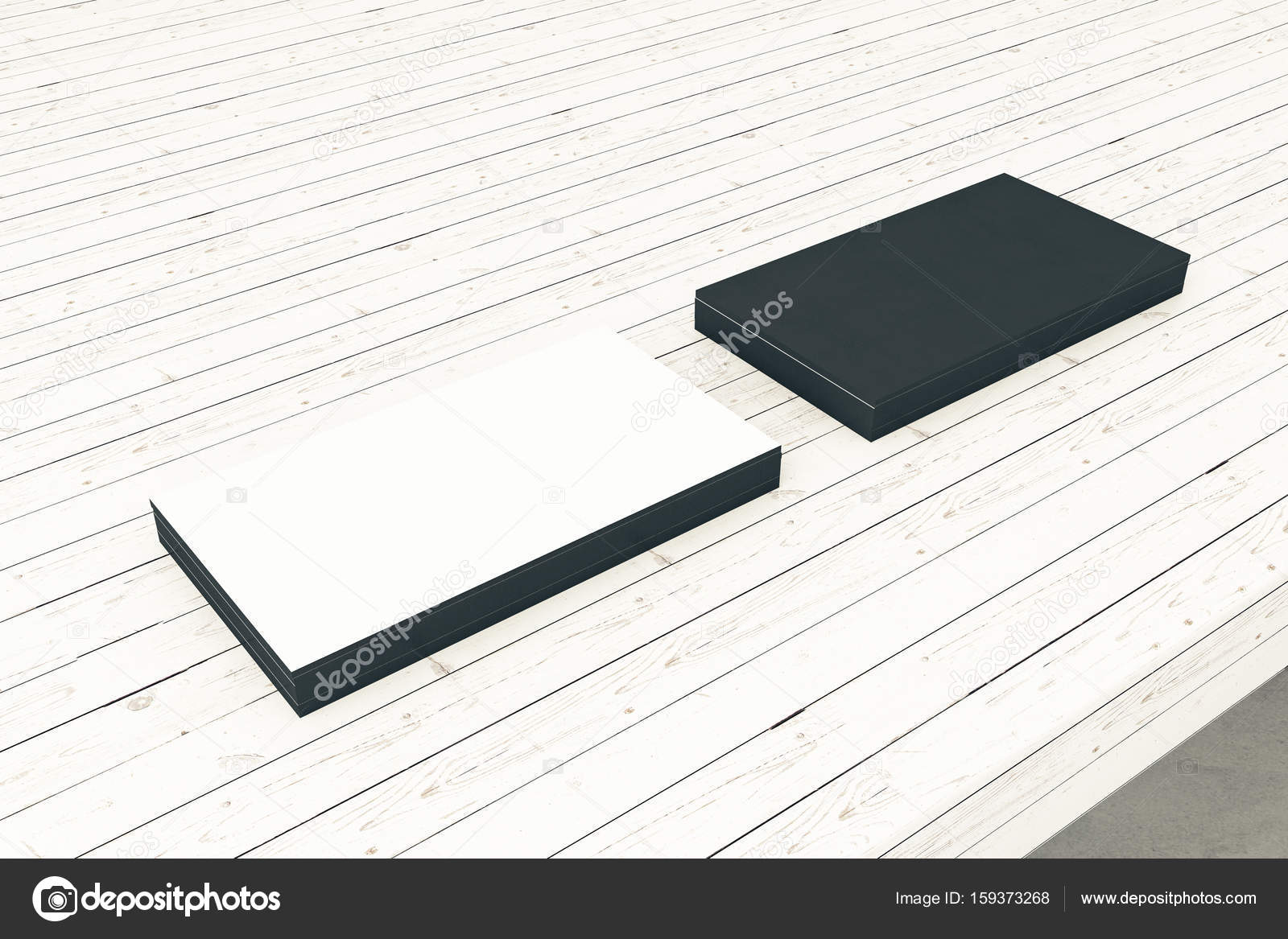 Surface De La Planche Bois Clair Avec Des Cartes Visite Vides Noir Et Blancs Concept Info Images Stock Libres Droits