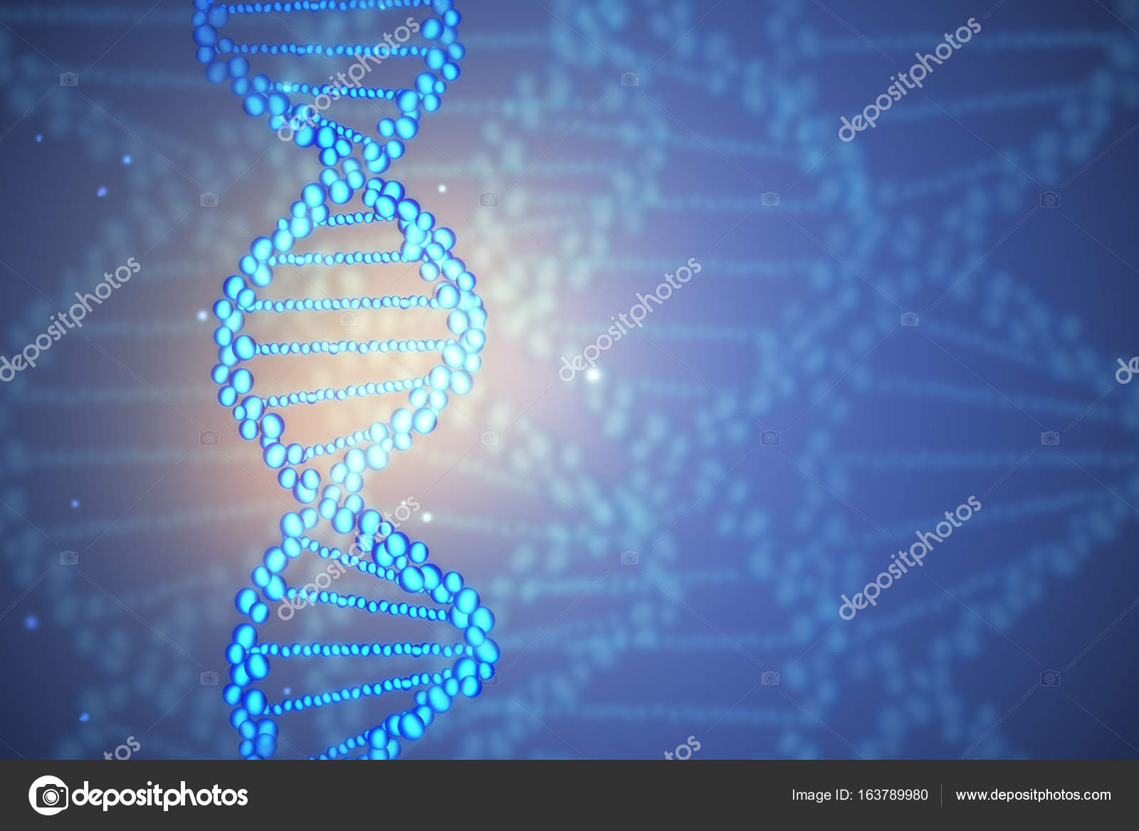 Abstract Blue DNA Molecule Wallpaper Medicine Innovation And Future Concept 3D Rendering Photo By Peshkova