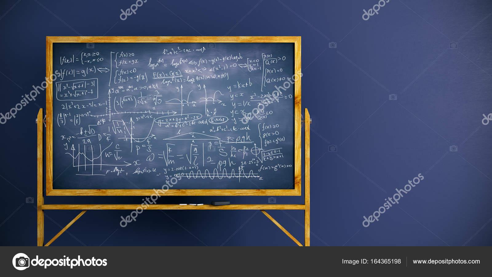 chalkboard with math