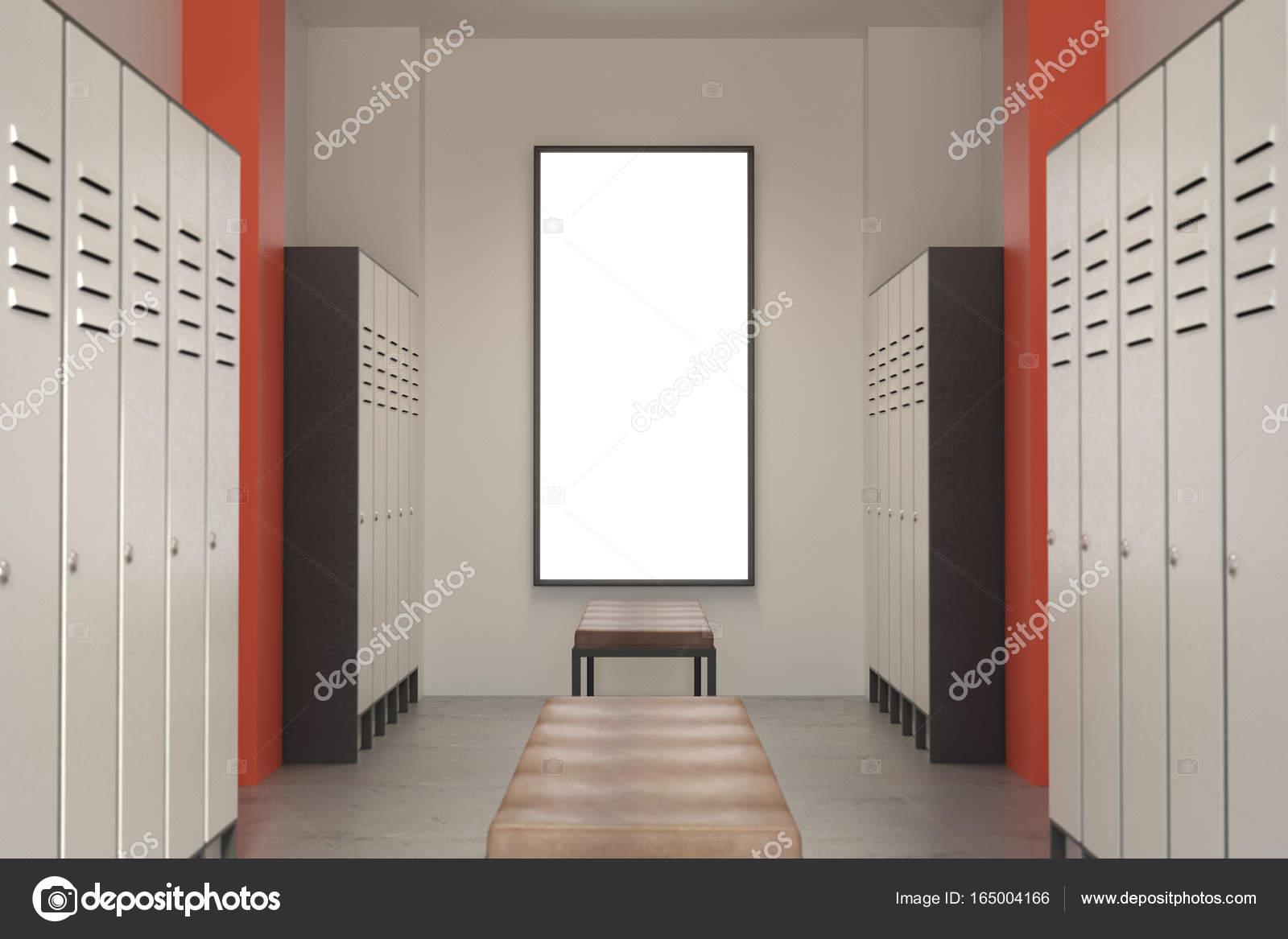 Chambre Moderne De Locker Vert Avec Enseigne Photographie Peshkova