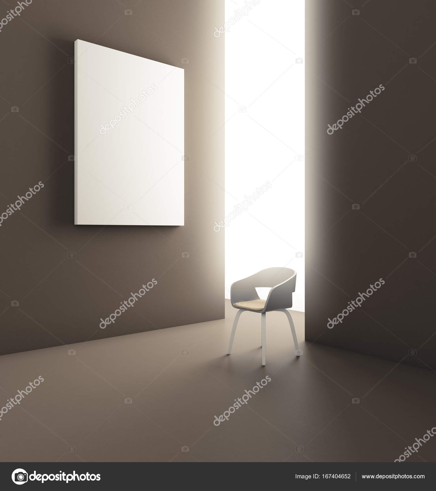 Modernes Zimmer mit Poster und Stuhl — Stockfoto © peshkova #167404652