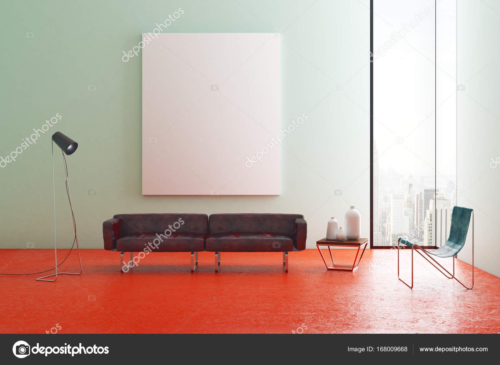 Zeitgenössische Wohnzimmer mit banner — Stockfoto © peshkova #168009668