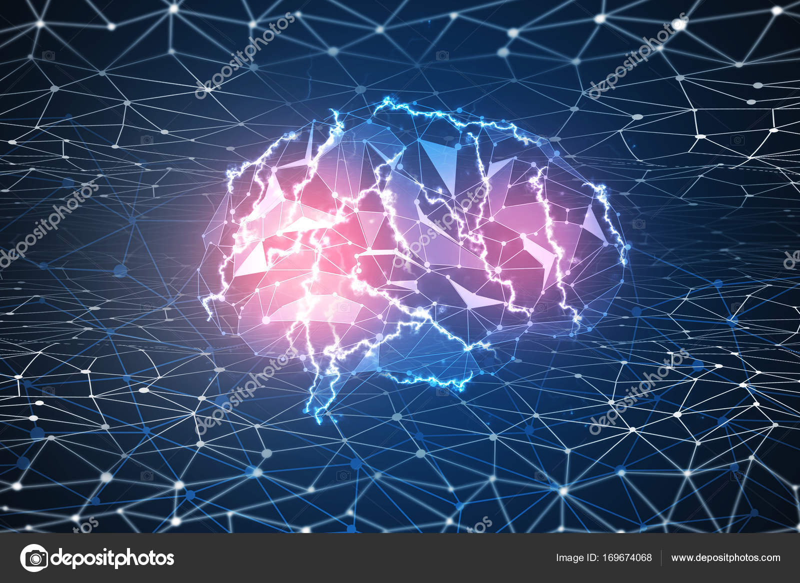 Digital brain wallpaper stock photo peshkova 169674068 - Brain wallpaper 3d ...