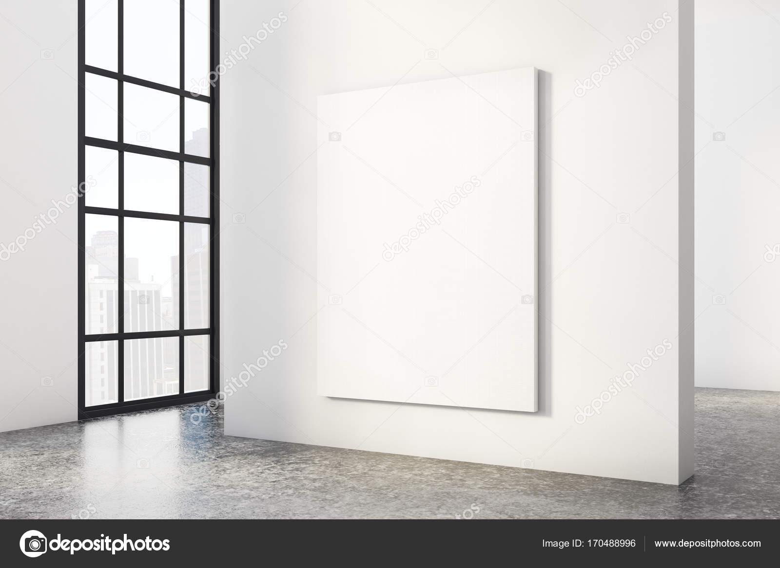 Moderne beton interieur mit poster u stockfoto peshkova