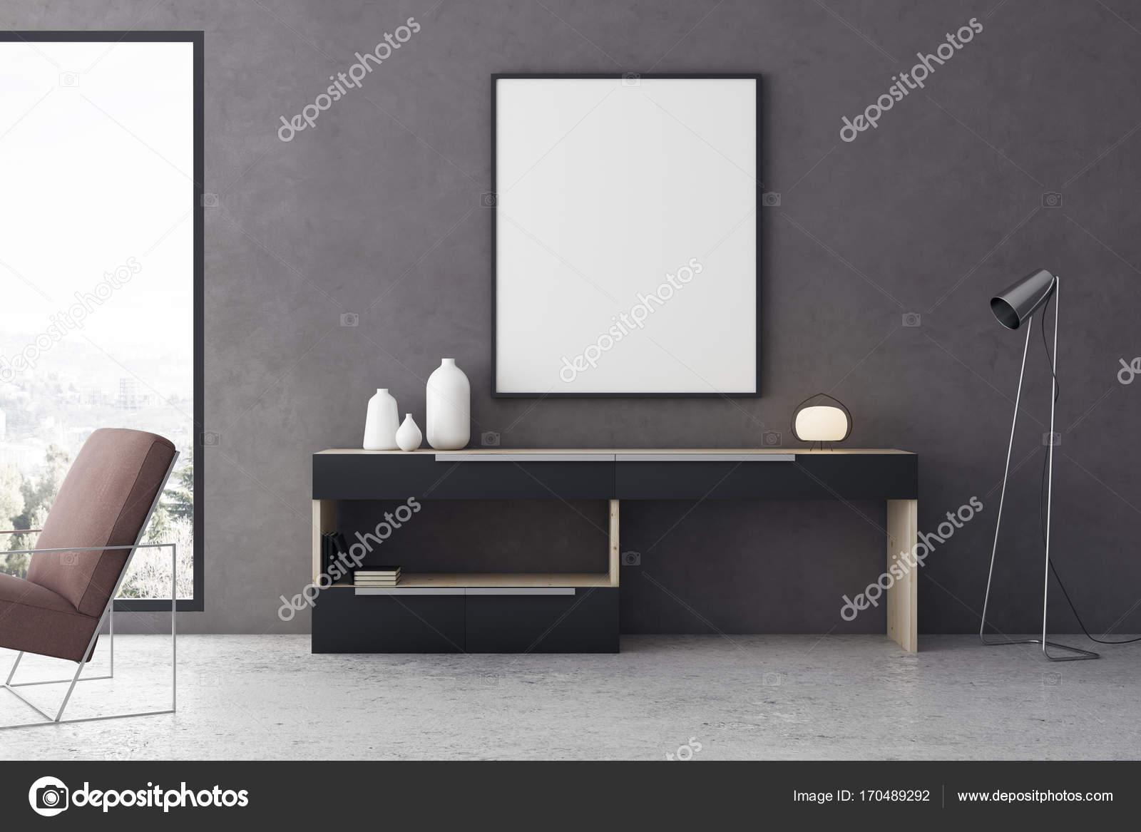 Moderne Wohnzimmer Interieur Wth banner — Stockfoto © peshkova ...