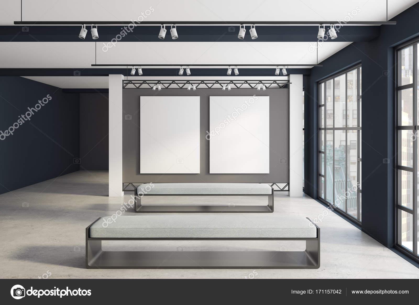 Ausstellung für moderne Innenausstattung mit sauberen Banner vorne ...