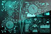 Koncept technologie, inovace a analytics