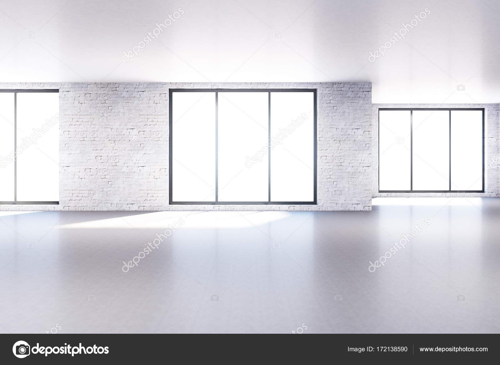 Moderne Ziegel Zimmer mit leeren Wand — Stockfoto © peshkova #172138590