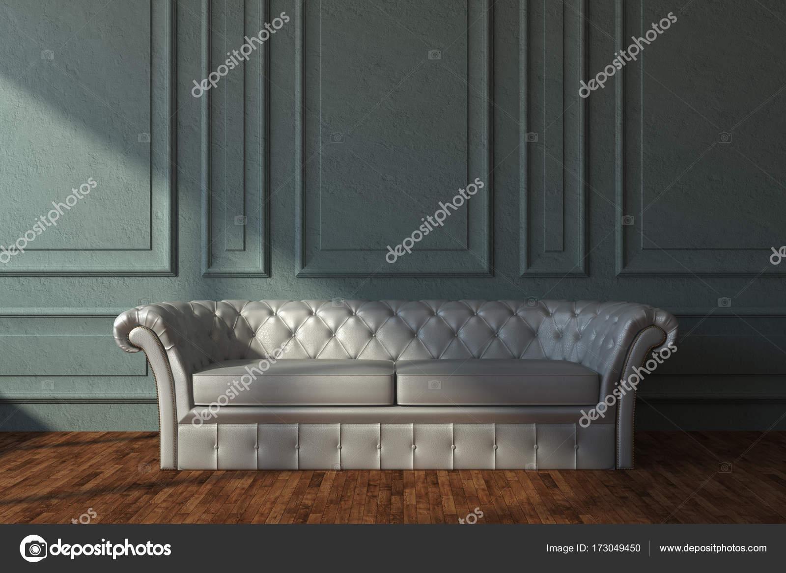 Wondrous Beige Leather Sofa In Classic Room Stock Photo C Peshkova Squirreltailoven Fun Painted Chair Ideas Images Squirreltailovenorg