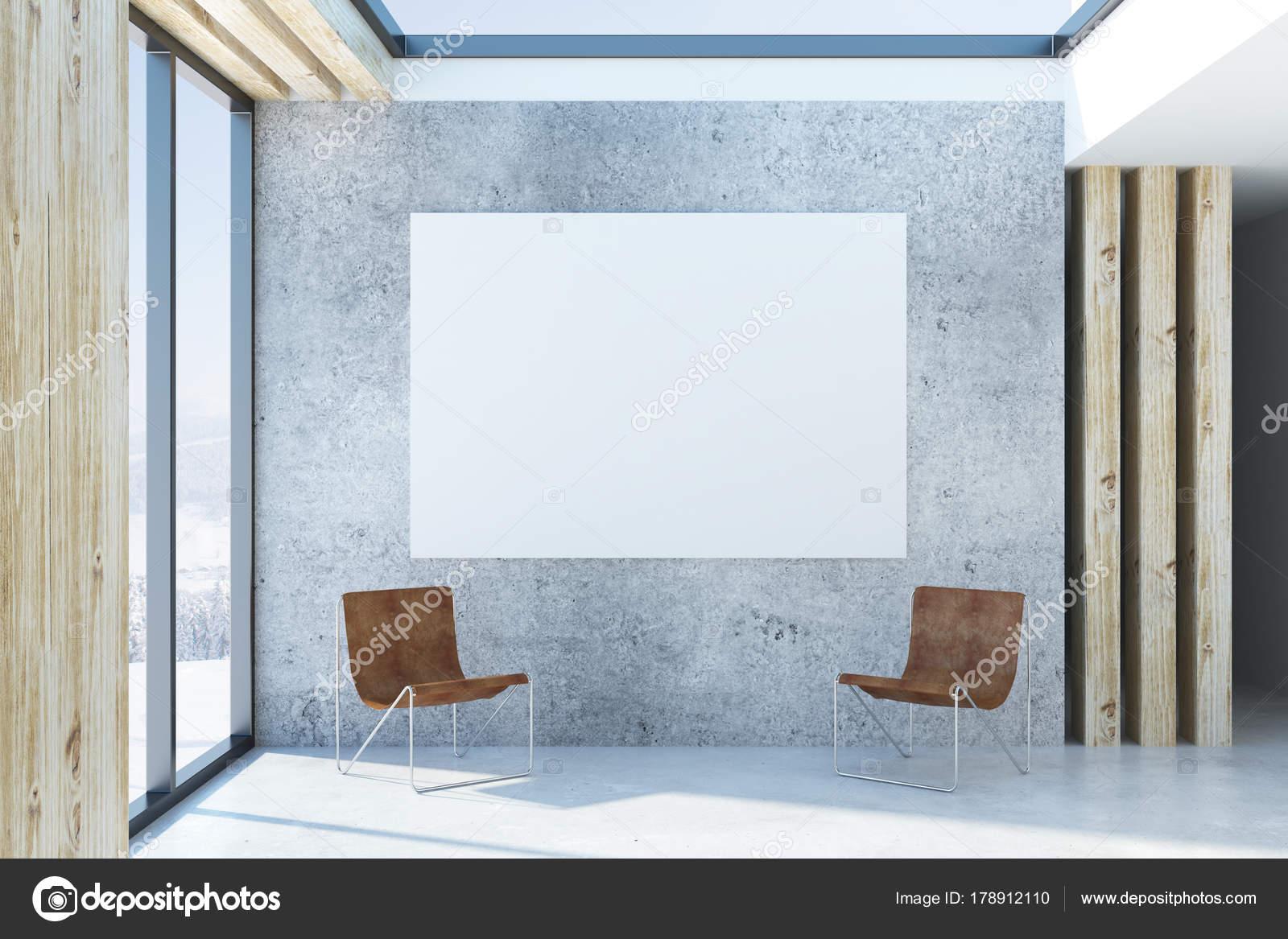 Modernes interieur mit leeren poster u stockfoto peshkova