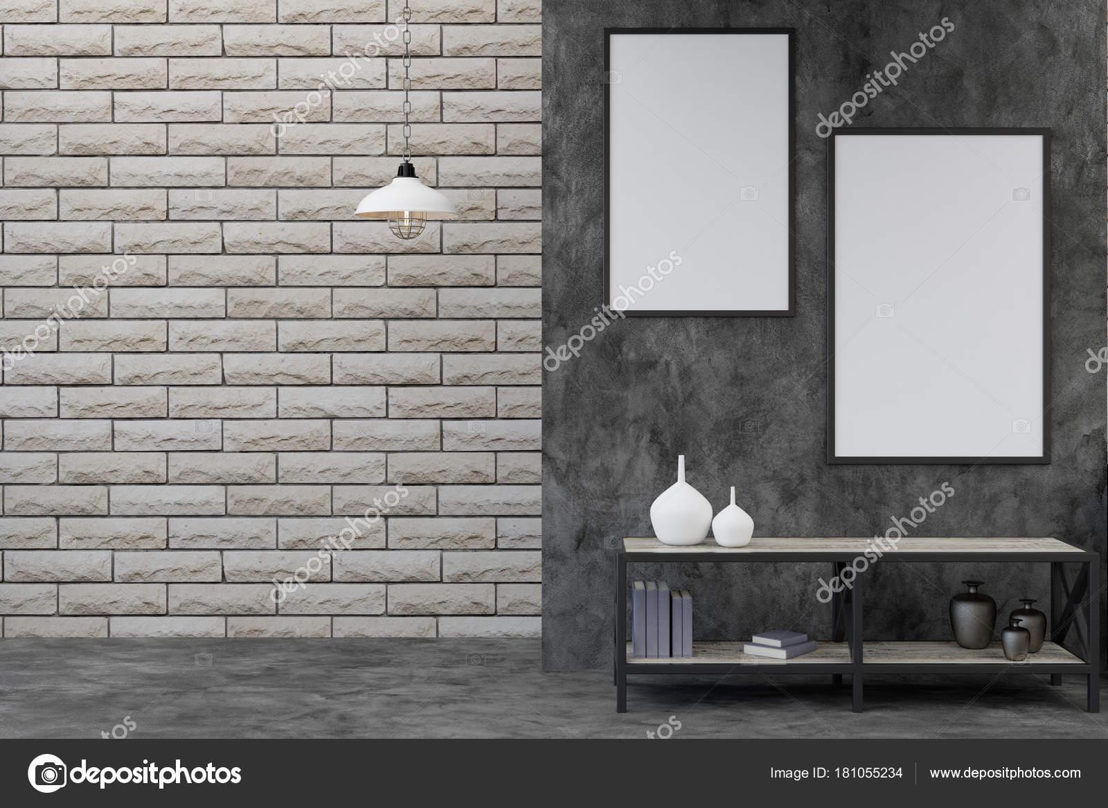 Modernes Zimmer mit leeren Plakatwände — Stockfoto © peshkova #181055234
