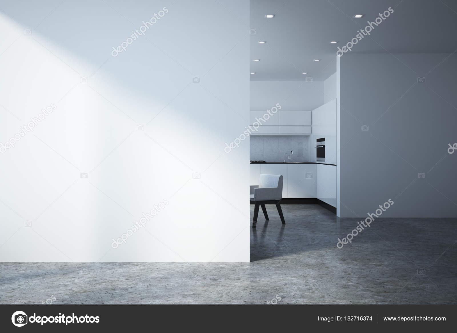 Moderne Küche Interieur mit leere Wand — Stockfoto © peshkova #182716374