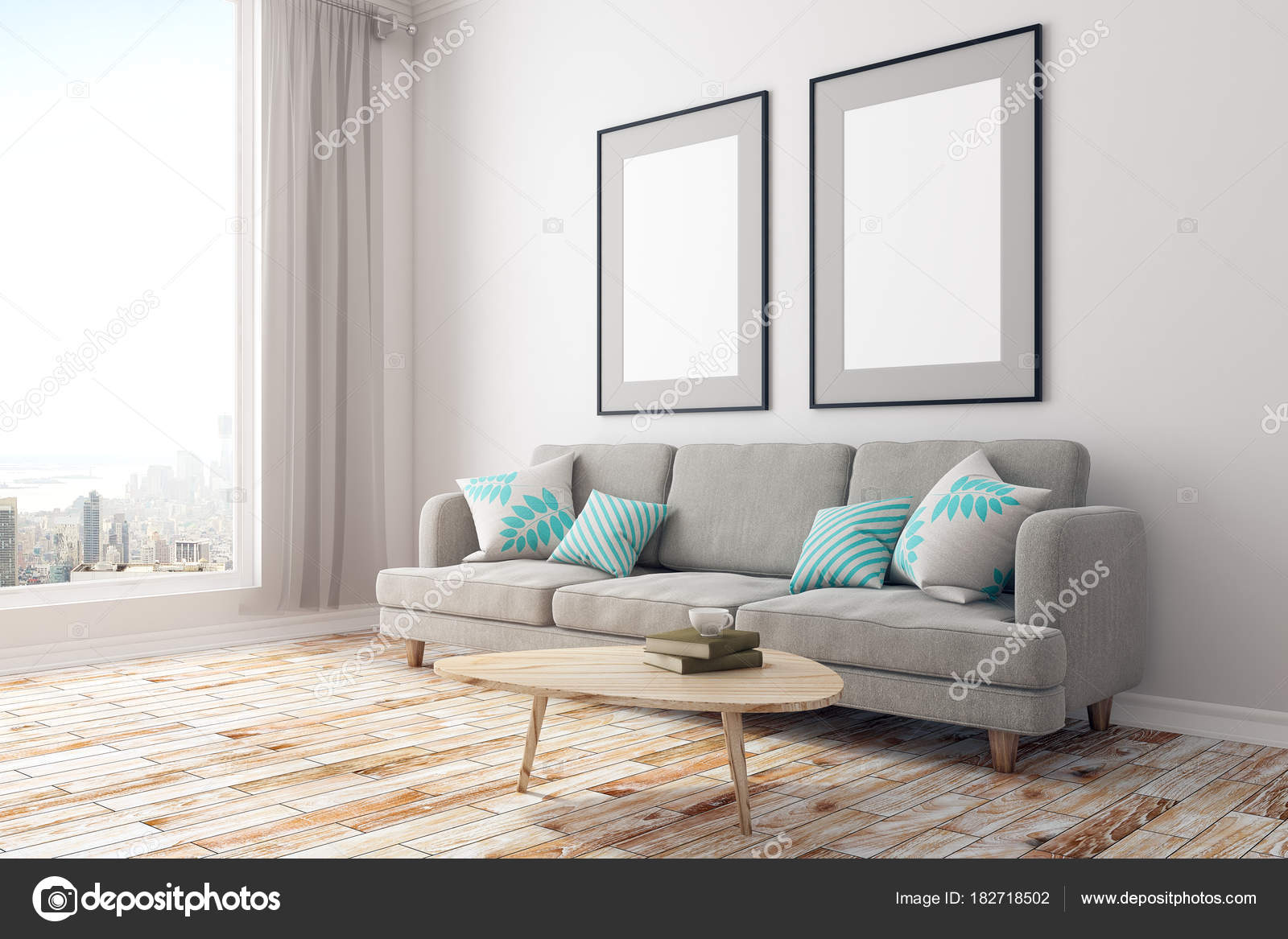 Modernes Zimmer mit Plakat-Seite — Stockfoto © peshkova #182718502