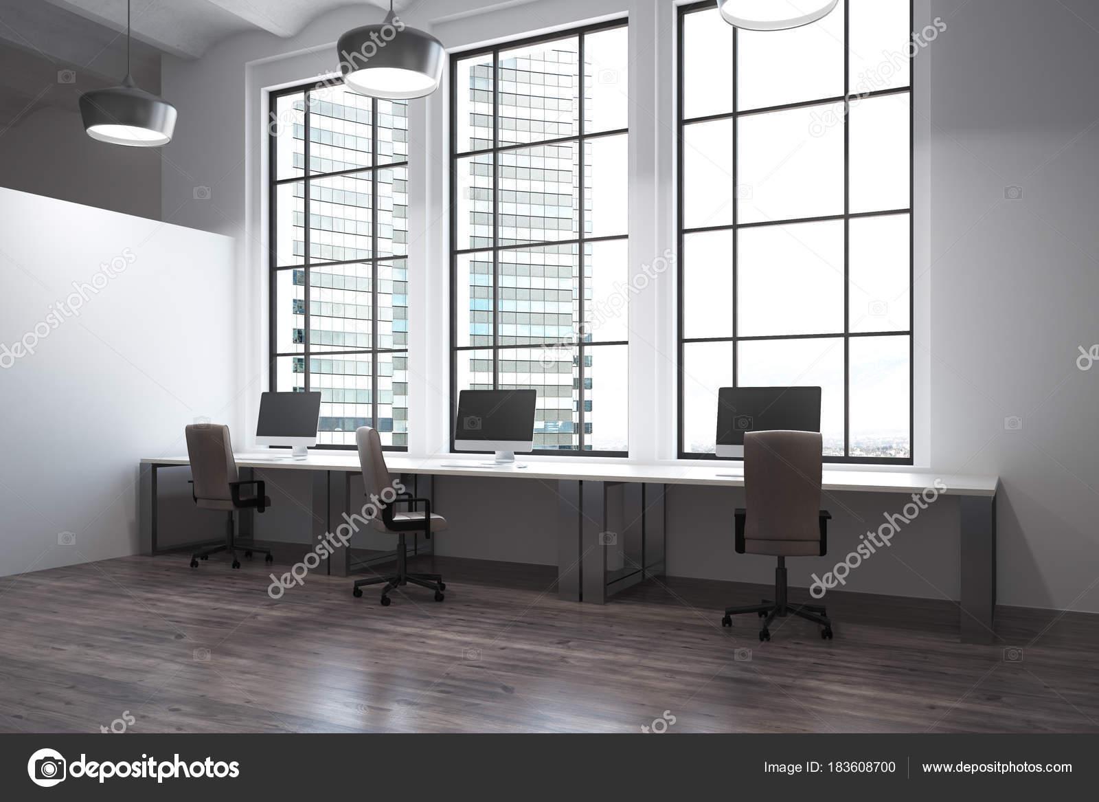 Fantastisch Moderna De Coworking Interior Do Escritório Com Vista Da Cidade E A Luz Do  Dia. Renderização 3D U2014 Foto De Peshkova
