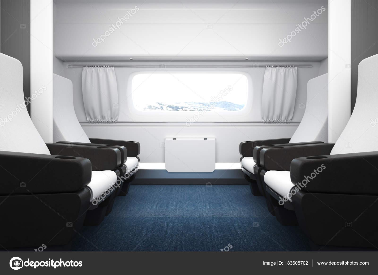 7f758d0d4e12f4 Hellen Luxus Zug Innenraum — Stockfoto © peshkova #183608702