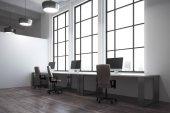 Coworking kanceláře interiéru Bright