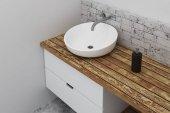 Tiszta fürdőszoba mosogató