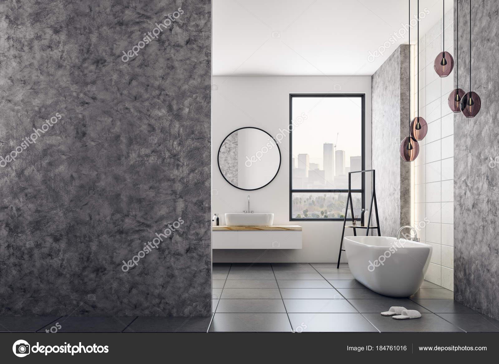 Sala Da Bagno Stile Contemporaneo : Stanza da bagno contemporanea con bandiera in bianco u foto stock