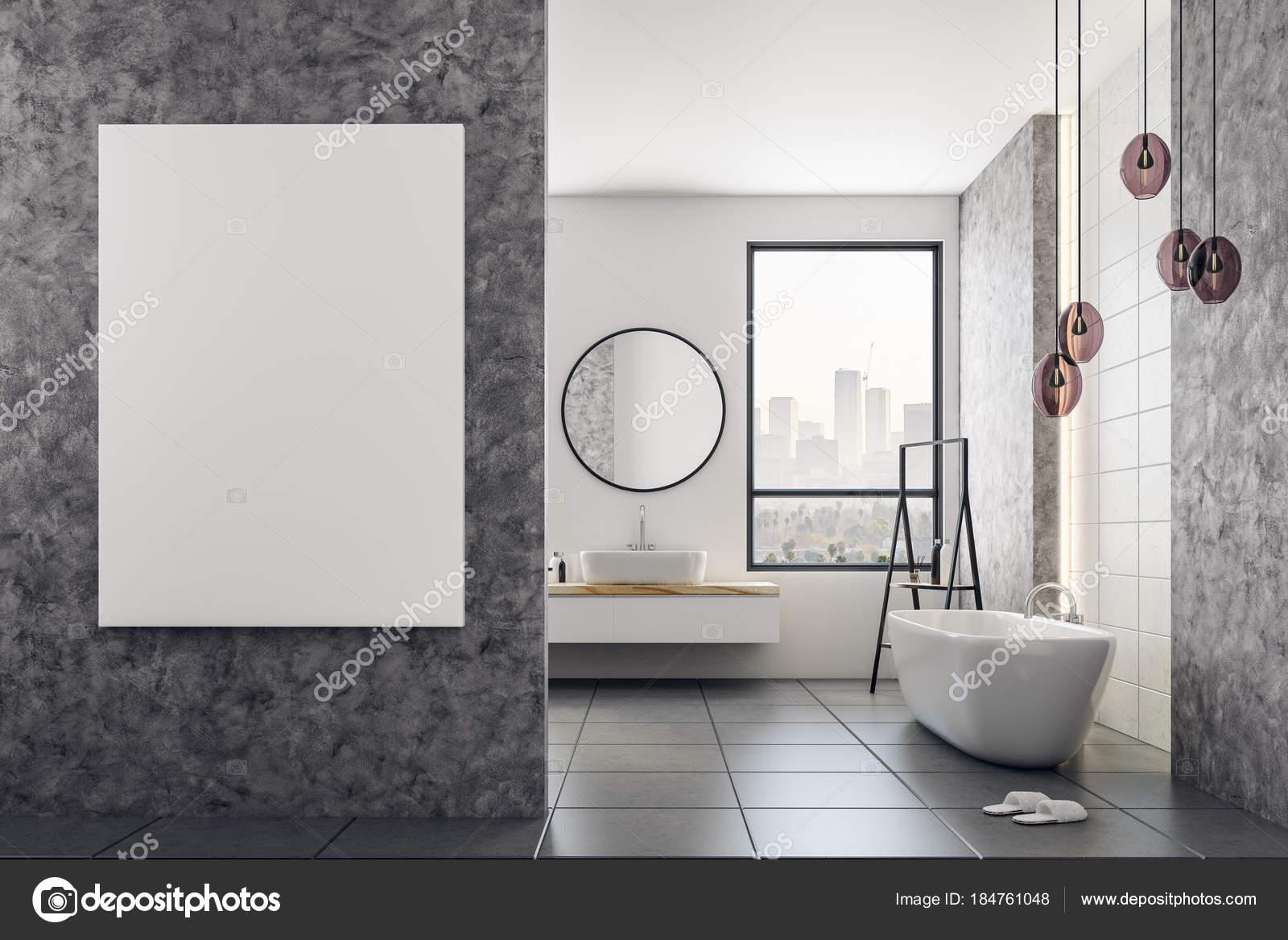Sala Da Bagno Stile Contemporaneo : Stanza da bagno contemporanea con tabellone per le affissioni in