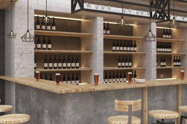 Contemporary bar interior