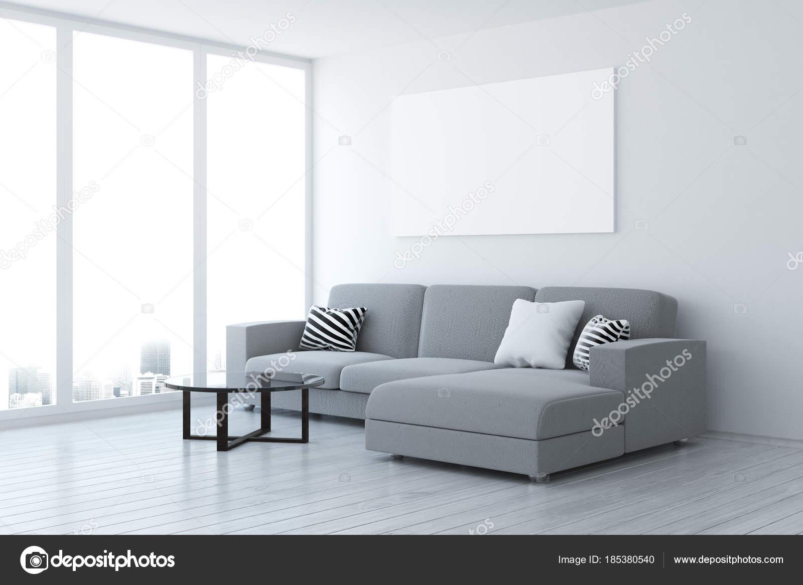 Zeitgenössische Wohnzimmer mit leere Plakat — Stockfoto © peshkova ...