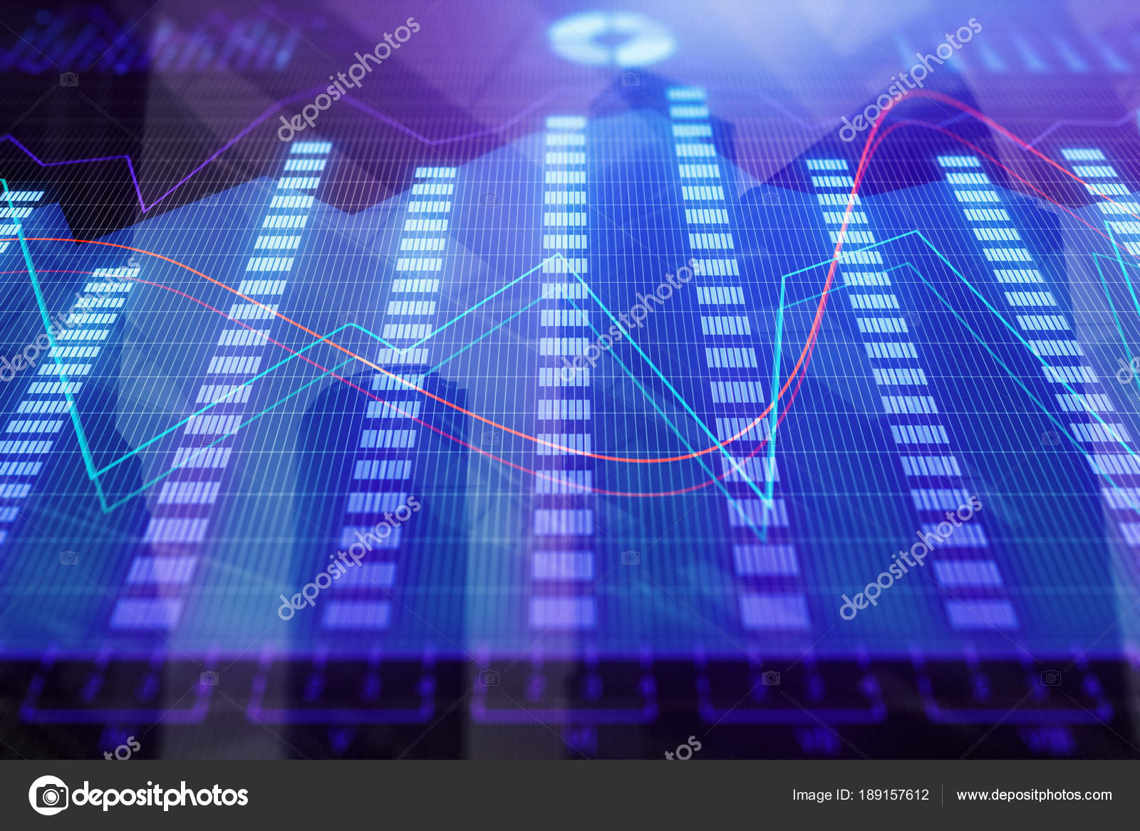 Abstract Colorful Forex Chart Wallpaper Finance And Trade Concept 3D Rendering Photo By Peshkova
