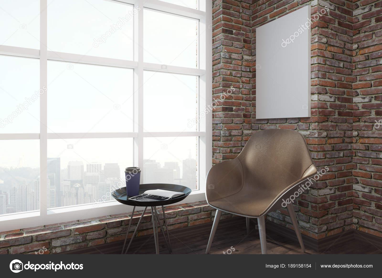 Modernes interieur mit stuhl und poster u stockfoto peshkova