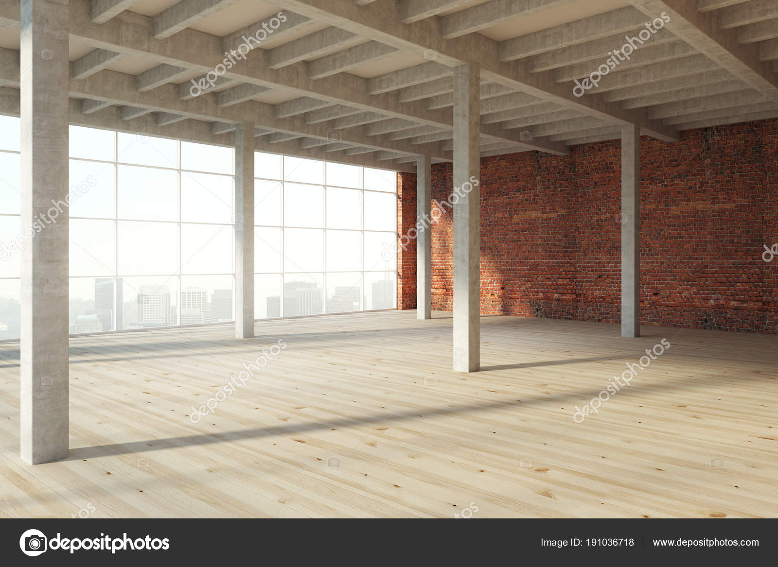 moderne houten interieur stockfoto