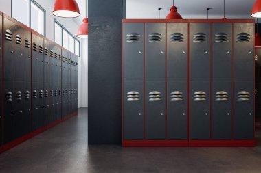Luxury locker room interior