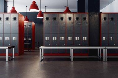 American locker room interior