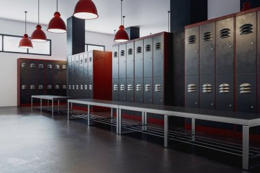 Clean locker room interior