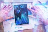 Účetnictví, finance a trh koncept
