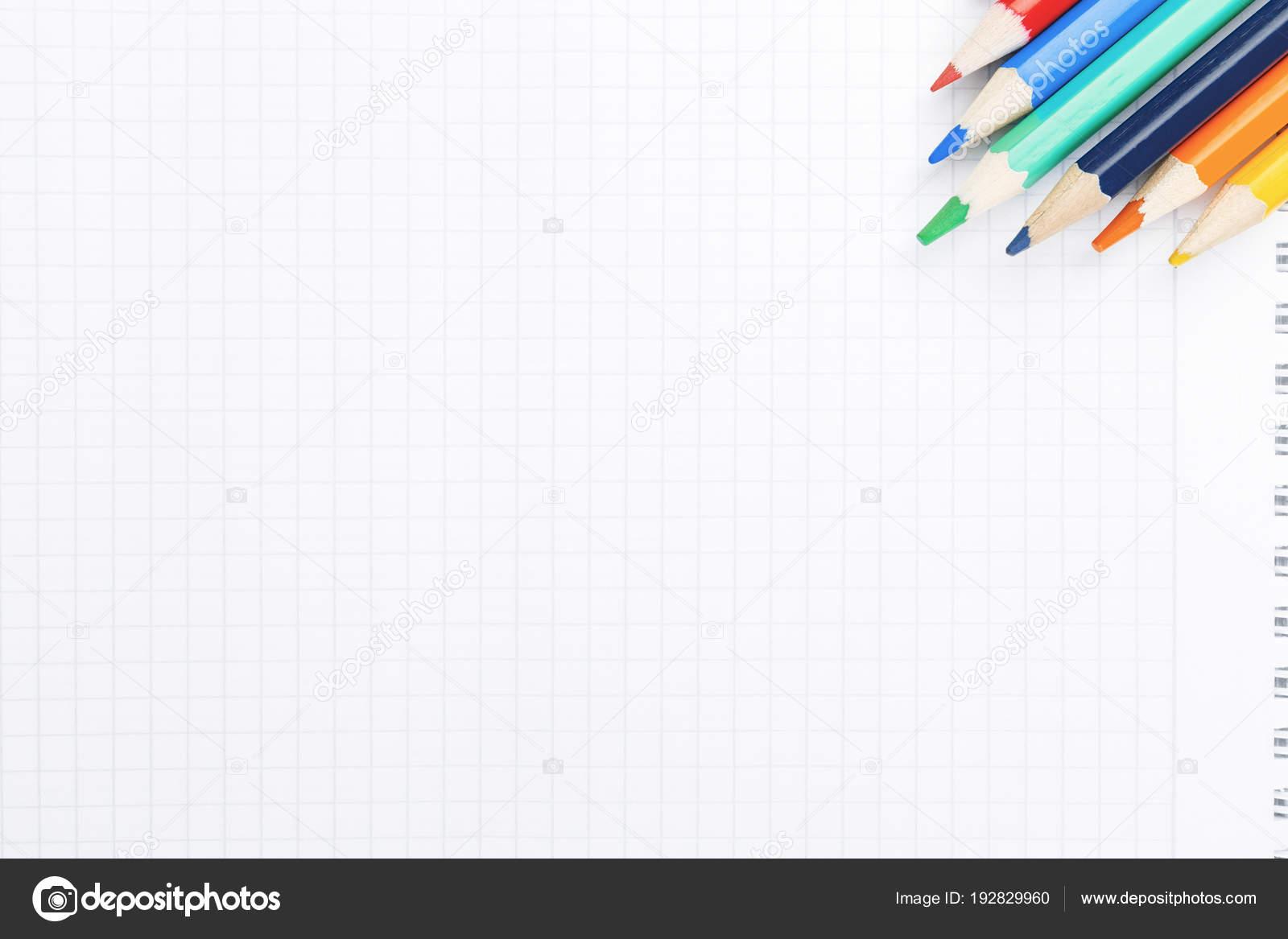 Modern desktop with blank notepad — Stock Photo © peshkova