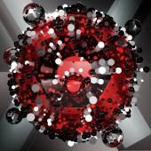 Fotografia Carta da parati dei cerchi astratti geometrici