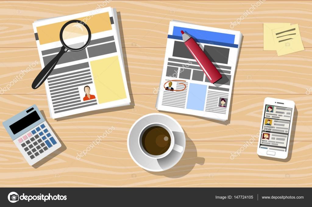Busca empleado: reanudar — Archivo Imágenes Vectoriales © Vecturion ...