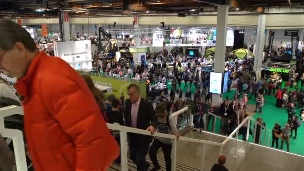 A lot of people at the Agricultural Exhibition