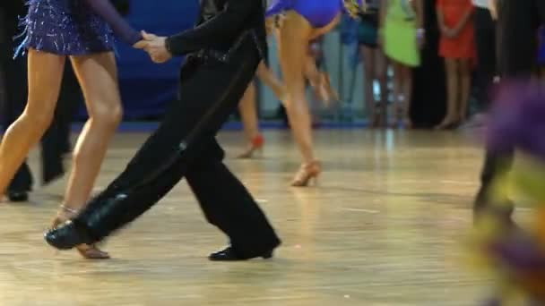 A Lot Of Couples Cool Dancing Shake In The Ballroom. Slow motion