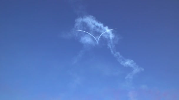 Heart shape on the sky during airshow