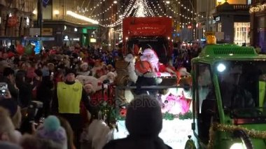 The traditional parade of Santa Claus at the opening of the Christmas holidays.