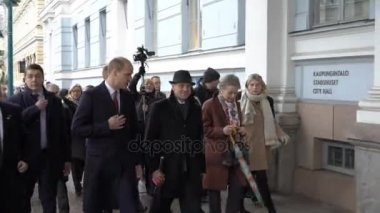 Prince William, Duke of Cambridge attends the city hall Helsinki during his visit to Finland.