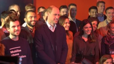 Prince William, Duke of Cambridge, meets with PwC employees at the startup and tech event Slush during his visit to Finland.
