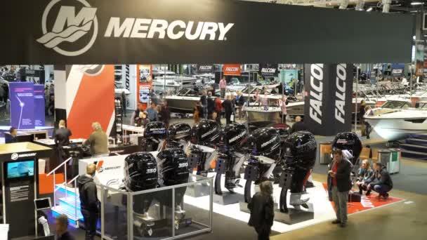 Powerful expensive boat motors Mercury. International Boat Show