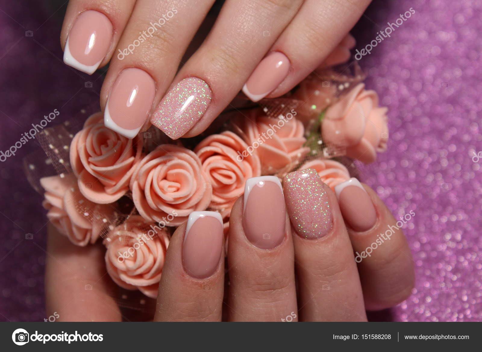 French manicure nail design — Stock Photo © SmirMaxStock #151588208